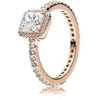 Pandora Timeless Elegance Ring, Pandora Rose, Clear CZ, 6 US, 180947CZ-52