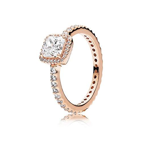Pandora Timeless Elegance Ring, Pandora Rose, Clear CZ, 7 US, 180947CZ-54 by PANDORA