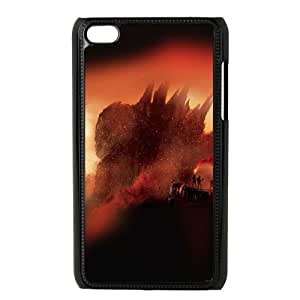 iPod Touch 4 Case Black Godzilla Poster 2014 Jcqnt