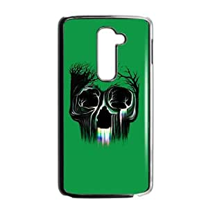 LG G2 Phone Case Covers Black Life Flowing SKull UKH Awesome Phone Cases