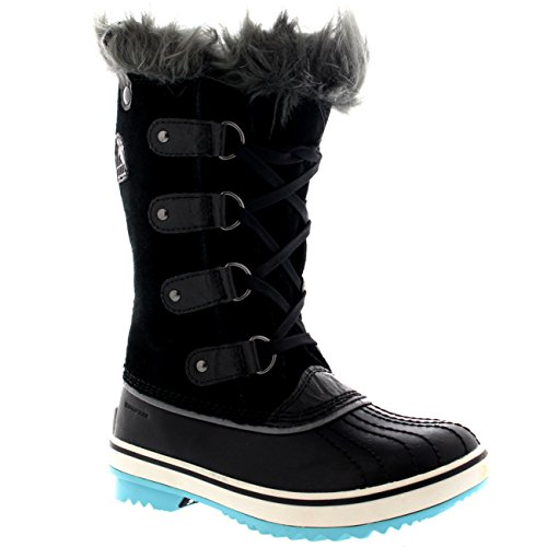 Sorel Girls Youth Tofino Black Iceberg Winter Boot - 7 by SOREL