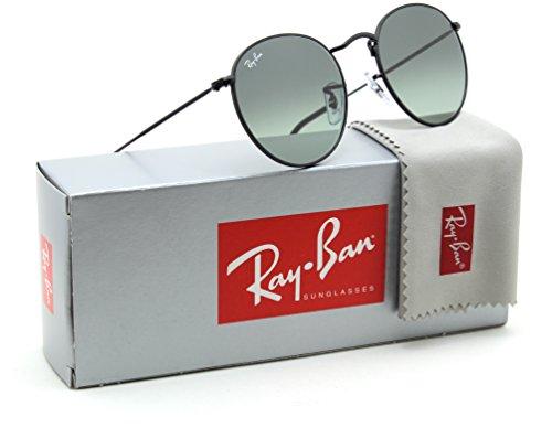 Ray-Ban RB3447N Round Flat Lenses Gradient Sunglasses Black 002/71 - 50mm