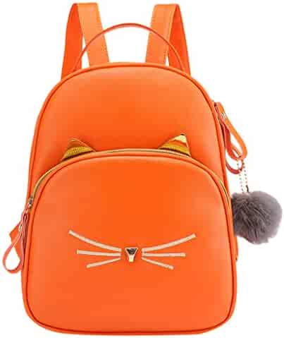 865defd68192b Women Students Backpack Girls Cute Cat Emoji Hairball Zipper Versatile  Satchels Solid School Shoulder Bag