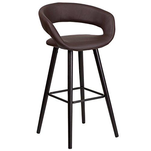 flash-furniture-ch-152560-brn-vy-gg-brynn-series-high-contemporary-brown-vinyl-barstool-with-cappucc