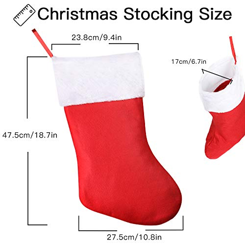 SHareconn Christmas Stockings,1 Packs 16 Inch Big Christmas Kids Gift Stocking Bags and Christmas Hanging Socks with 3D Santa, Snowman, Reindeer, Xmas Character Cartoon Characters for Party Decoration (Character Christmas)