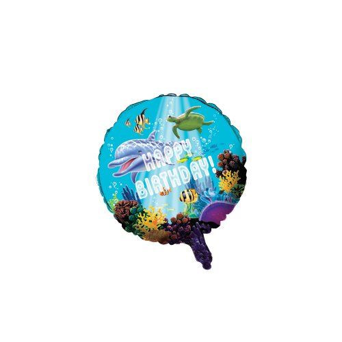 Creative Converting Ocean Party Metallic Balloon, 18-Inch