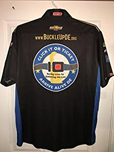 "XL Turner Scott Racing ""Buckle Up Arrive Alive"" Motorsports Nascar Truck Series Pit Crew Shirt Jersey 1/4 ZIP Race Used Simpson Racing Chevy Chevrolet"