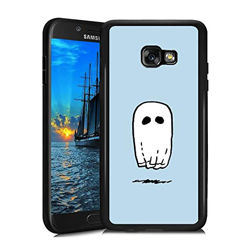 Samsung Galaxy A3 2017 Case,Flexible Soft TPU Cover Shell,Slim Silicone Black Rubber Non-Slip Durable Design Protective Phone Case for Samsung Galaxy A3 2017 -Spooky Ghost Sheet]()