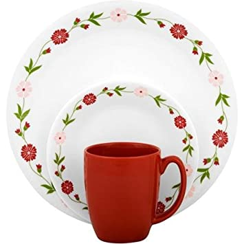 Corelle Livingware Spring Pink 16-Piece Dinnerware Set Fade Scratch and Chip Resistant  sc 1 st  Amazon.com & Amazon.com | Corelle Livingware Spring Pink 16-Piece Dinnerware Set ...