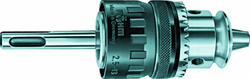 Röhm 600581 Type 129-00 HBF 13 Carbide Insert Key-Type Hammer Drill Chuck with SDS-Plus Adapter Take-Up, 42.9mm Diameter, 2.5-13mm Clamping Capacity ()