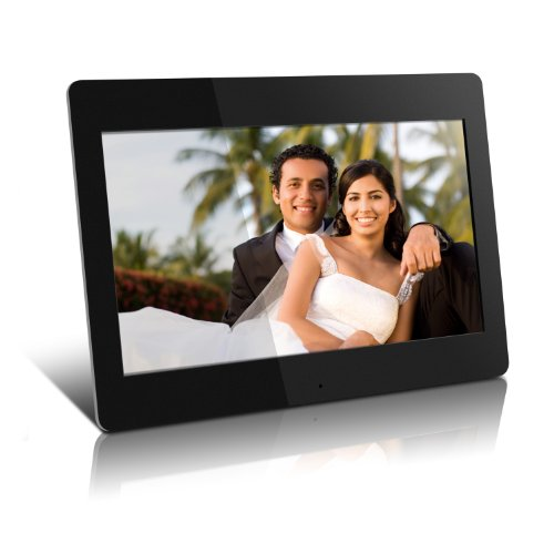 Aluratek High Resolution ADMPF114F 14 inch Digital Photo Frame w/4GB Built-in Memory and Remote(1600 x 900 Resolution) by Aluratek