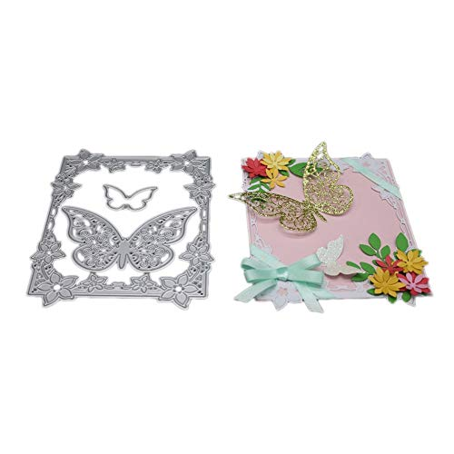 Autumn Water 14x11.4cm Butterfly Frame Metal Cutting Dies Scrapbooking Dies Metal Easter Craft Dies Cut New 2017 for DIY Decorations Gift Box