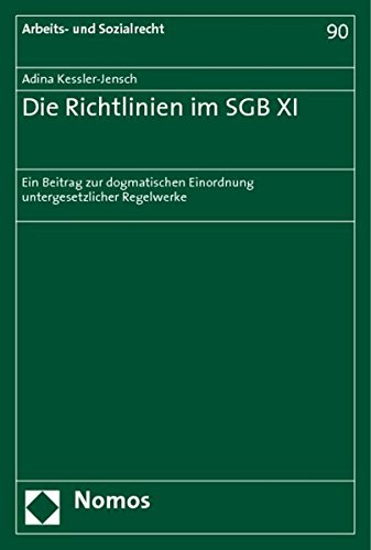 Read Online Die Richtlinien im SGB XI pdf