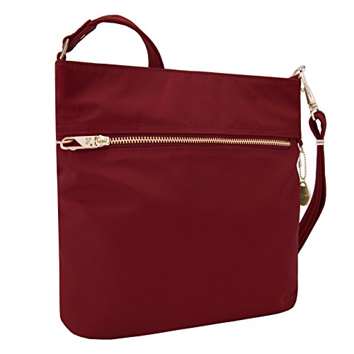 Travelon Women's Anti-Theft Tailored N/s Slim Bag Cross Body, Garnet, One Size