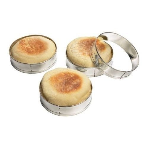 4 Pc English Muffin Crumpet Biscuit Cookie Rings Cutter Set Egg Pancake