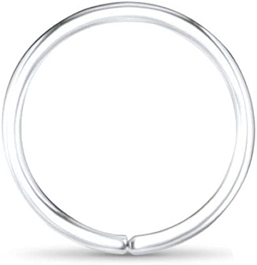Amazon Com 14k White Gold Nose Hoops Seamless Nose Rings 1 4