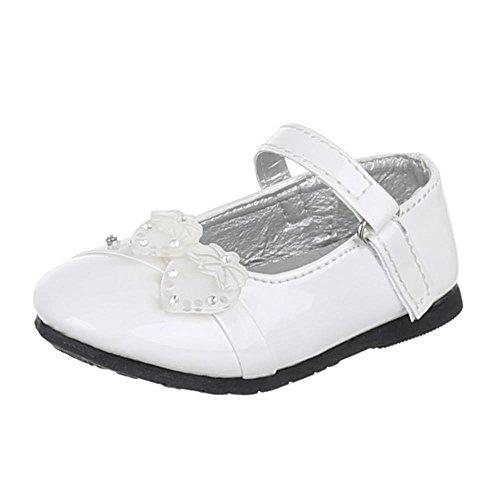 MIT Weiß 283 DEKO BALLERINAS Schuhe Kinder VERZIERTE 6 IpRCqHZnw