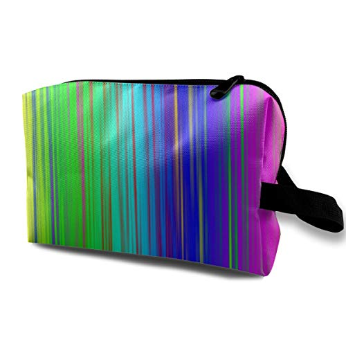 Makeup Bag Rainbow Stripes Portable Travel Multifunction Cosmetic Bags Inspiring Case For Women