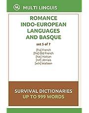 Romance Languages and Basque Language Survival Dictionaries (Set 5 of 7)