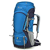 Mountaintop 55L Internal Frame Backpack Hiking Backpack with Rain Cover