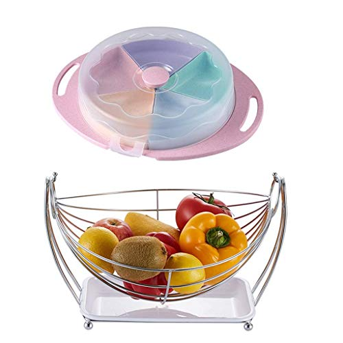 Multifunctional Creative Living Room Fruit Basket, Healthy and Environment Friendly, Design, Flexible and Practical, Stainless Steel Fruit Dish Snack Cup, Household Drain Wheat Straw Dried Fruit Absor