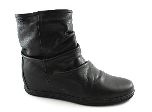 IGI&Co 87850 Schwarze Frau Schuhe Stiefeletten Keil Innentasche mit Reißverschluss Nero