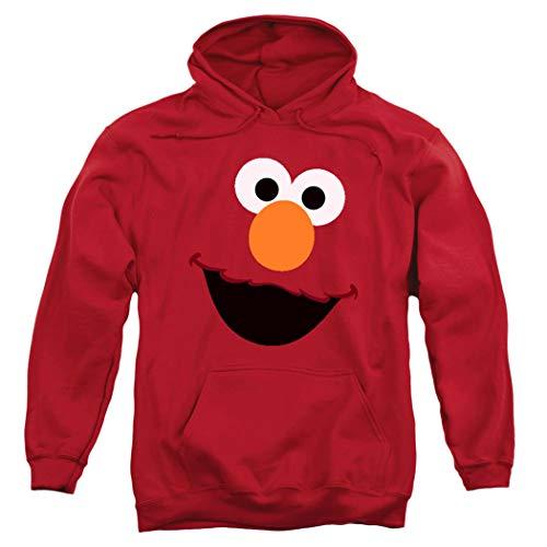Sesame Street Elmo Face Pull-Over Hoodie Sweatshirt