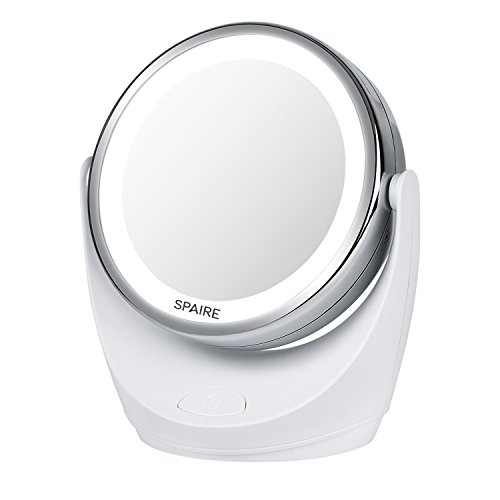 Spaire Makeup Mirror 1X / 10X Magnification Vanity Mirror wi