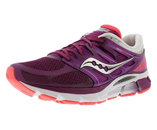 Image of Saucony Women's Zealot ISO Running Shoe, Purple/Coral, 12 M US
