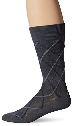 Perry Ellis Men's All Over Argyle Microfiber Luxury Dress Sock
