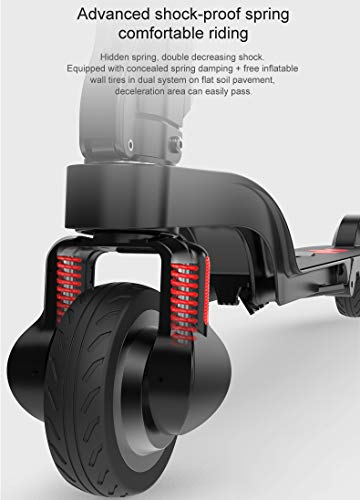Amazon.com: Patinete eléctrico portátil, plegable con ...