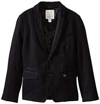 Diesel Big Boys' Jonita Triple Twisted Twill Tuxedo Jacket, Black, Small