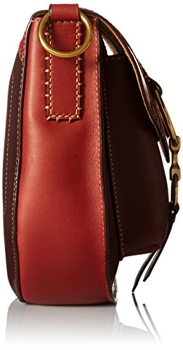 Crossbody FRYE Multi Ilana Leather Red Bag Color Clay Block Saddle IfvgqZwfx