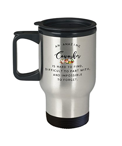 Coworkers Colleague Boss best travel mugs coffee tea cup gifts funny friend Retirement Goodbye Leaving Farewell For Going Away Thank You leave amazing Go insulated big large
