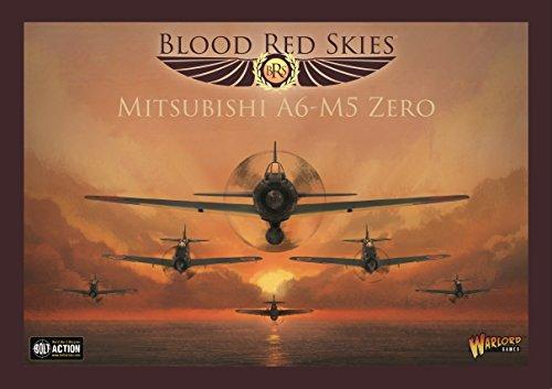Mitsubishi Bolt - Bolt Action Warlord Games, Blood Red Skies - Mitsubishi A6-M5 Zero - Air Combat Game Miniatures