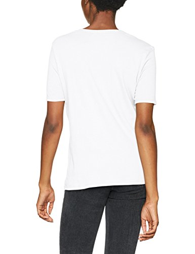 G-STAR RAW Adisyon Straight Deep V T 1/2 Sl, Camiseta para Mujer Blanco (White 110)