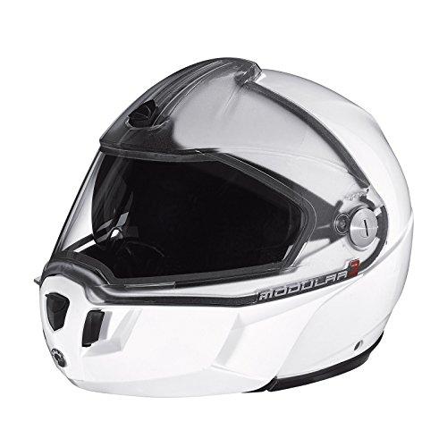 Ski-doo Modular 3 Snowmobiling Helmet-White 4479631201 (X-LARGE, WHITE)