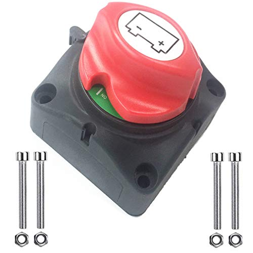 12V 24V 48V 350A OFNMY Battery Isolator Switch Battery Disconnect Switch Power Cut Off Switch for Car Truck Boat Van Caravan Automotive