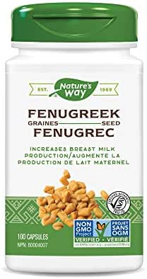 Nature's Way Fenugreek Seed, 1,220 mg per serving, Non-GMO Project Verified, TRU-ID Certified, Vegetarian, 100 Capsules