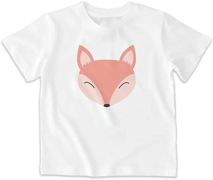 SUPERMOLON Camiseta niño Zorro Blanca: Amazon.es: Ropa y accesorios