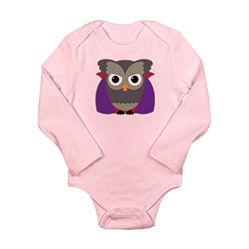 Truly Teague Long Sleeve Infant Bodysuit Spooky Little Owl Vampire Monster - Petal Pink, 18 To 24 Months -