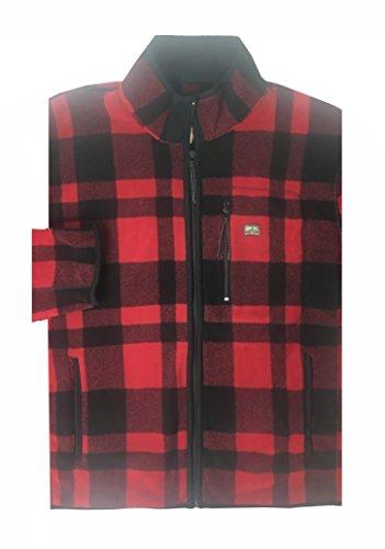 Denim & Supply Ralph Lauren Men's Plaid Fleece Jacket (XX-Large, Red/Black)