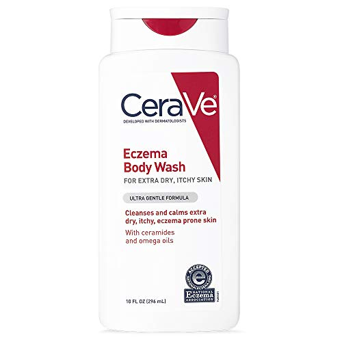 CeraVe Eczema Body Wash | 10 oz | Dry Skin Relief & Eczema Treatment Shower Gel for Itchy Skin | Fragrance Free (Best Body Oil For Eczema)