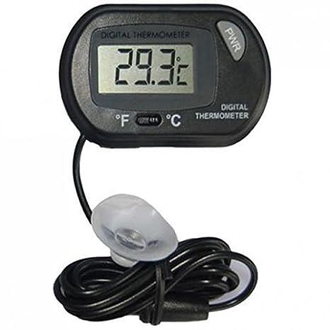 Gazechimp Indicador de Temperatura de Agua de Acuario de Pila de Botón de Termómetro Digital de