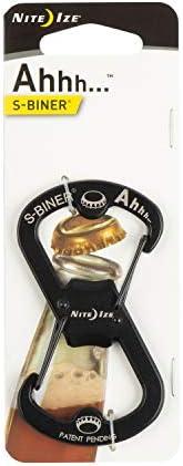 Nite Ize SBO-03-01 S-Biner Ahhh Carabiner Clip Bottle Opener