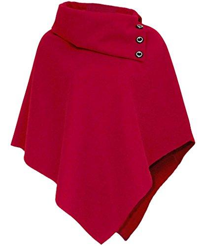 RageIT Uni Noir Femme Manteau Noir Rouge r5BqWrxwt