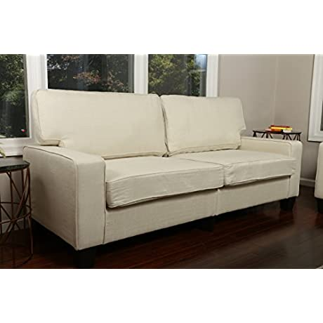 Home Life 3 Person Full Size Contemporary Pocket Coil Hardwood Sofa 282 78 Wide Light Beige