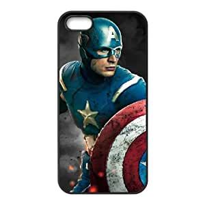 Captain America IPhone5 5S Phone Case Black white Gift Holiday Gifts Souvenir Halloween Gift Christmas Gifts TIGER157325