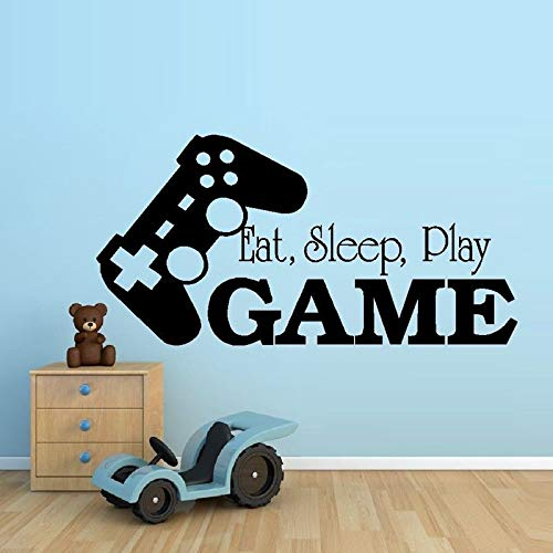 ziweipp Video Game Sticker Play Decal Gaming Posters Gamer Vinyl Wall Decals Parede Decor Mural 19 Color Choose Video Game Sticker 50 100cm