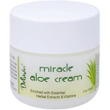 Delúvia Miracle Aloe Vera Cream (2 oz) For Soothing Eczema, Psoriasis, Sunburn, Rashes, Bug Bites. Hydrating Face, Body, Hand or Foot Daily Moisturizer For Dry Skin. Hydrating Lotion. Day or Night